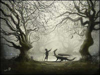 Love fantasy? Read about the genre. Andy Fairhurst is the artist. Check out his work @andyfairhurst.deviantart.com