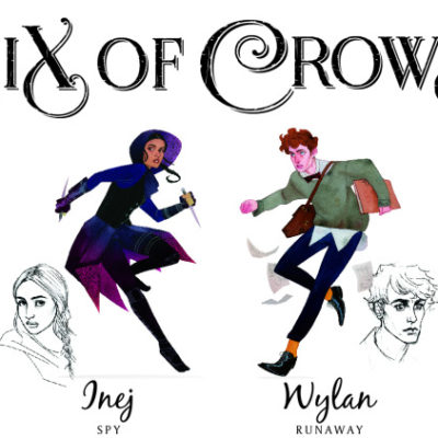 Six of Crows book review. Banner by  Kevin Wada http://kevinwada.tumblr.com/post/123470543176/lbardugo-well-be-giving-away-this-limited